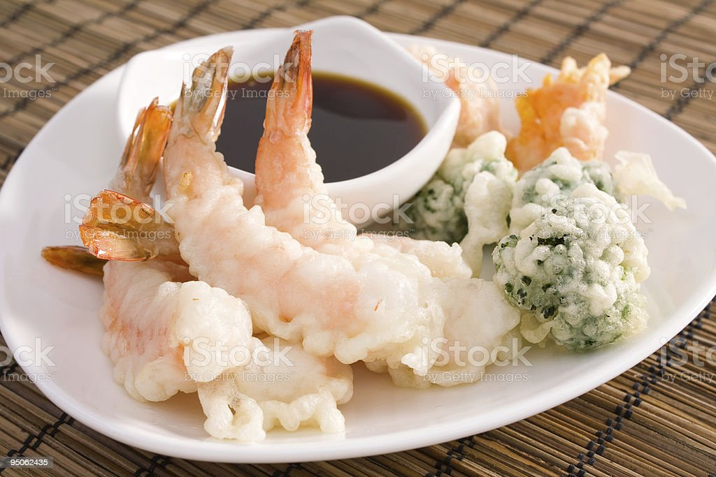 Tempura Shrimp royalty-free stock photo