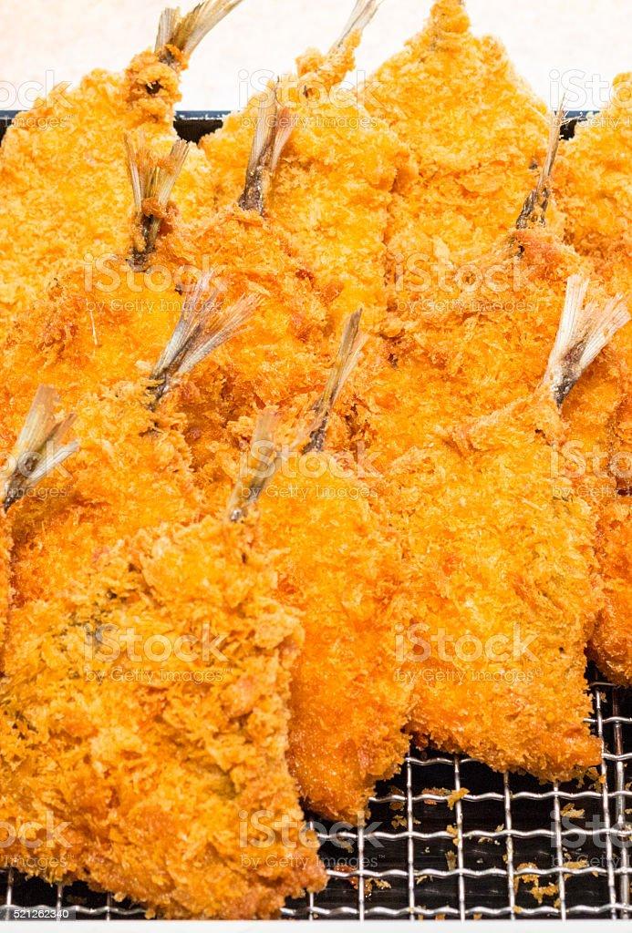Tempura Shrimps in Kanazawa, Japan stock photo