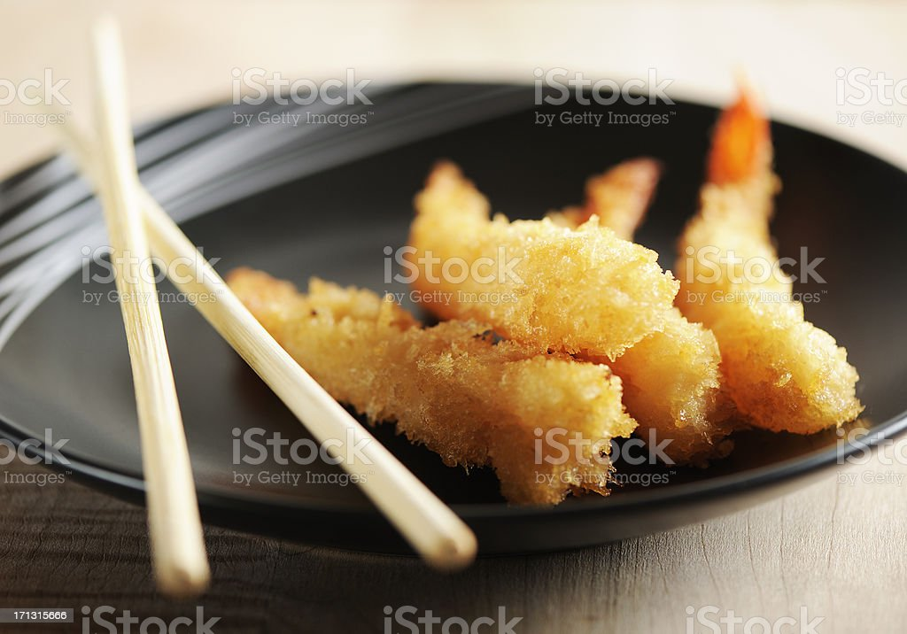 Tempura shrimps stock photo