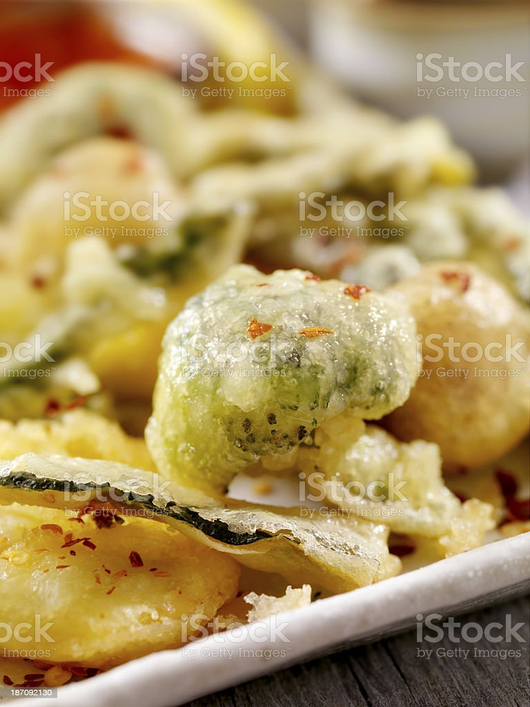 Tempura Vegetables royalty-free stock photo