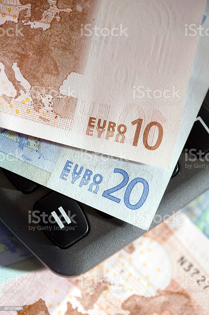 Ten and Twenty Euro Notes stock photo