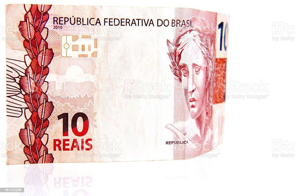 Ten Brazilian Real royalty-free stock photo