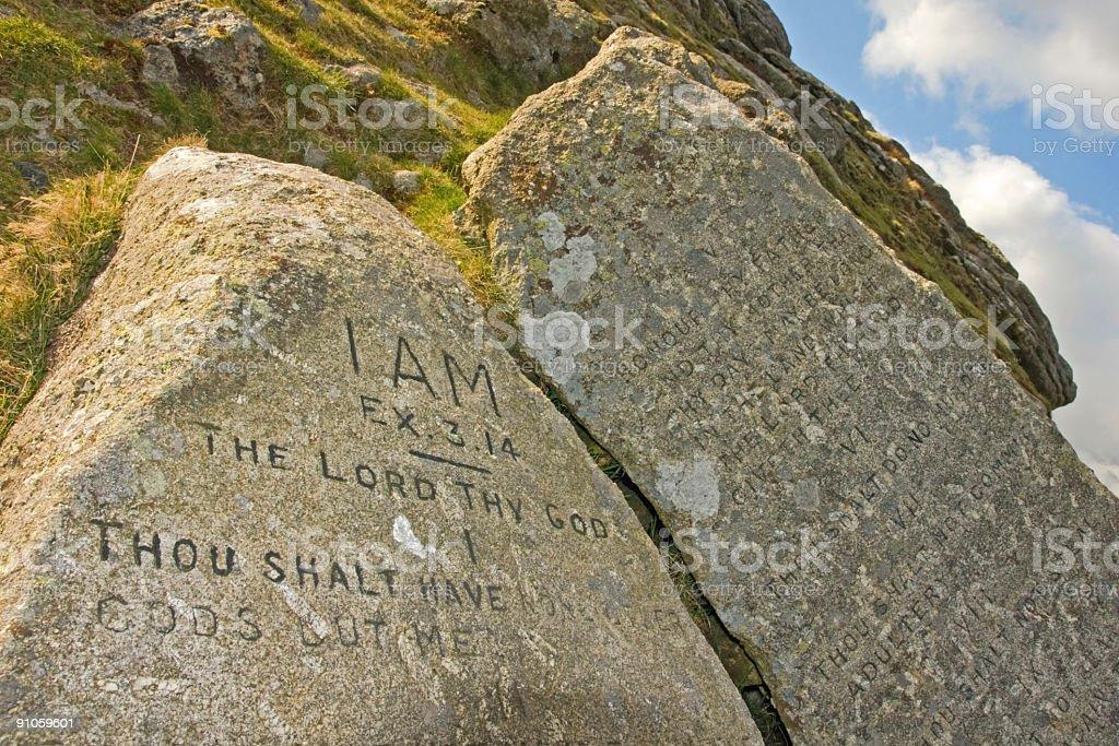 Ten commandment stones on Dartmoor National Park royalty-free stock photo