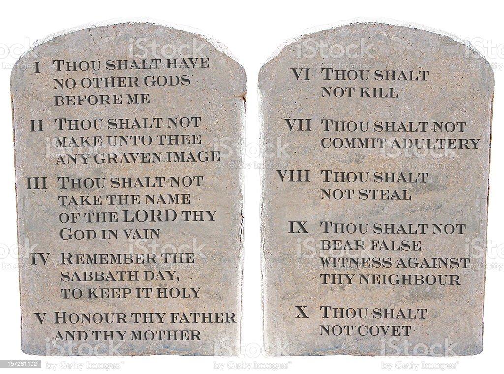 Ten Commandments (KJV) stock photo