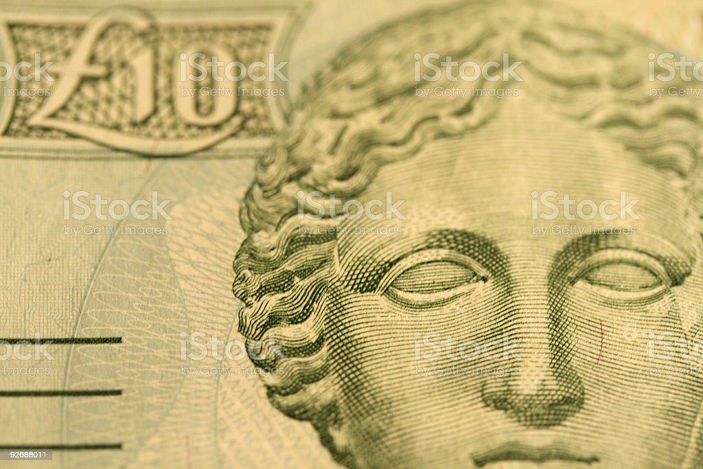 Ten Cyprus Pounds royalty-free stock photo