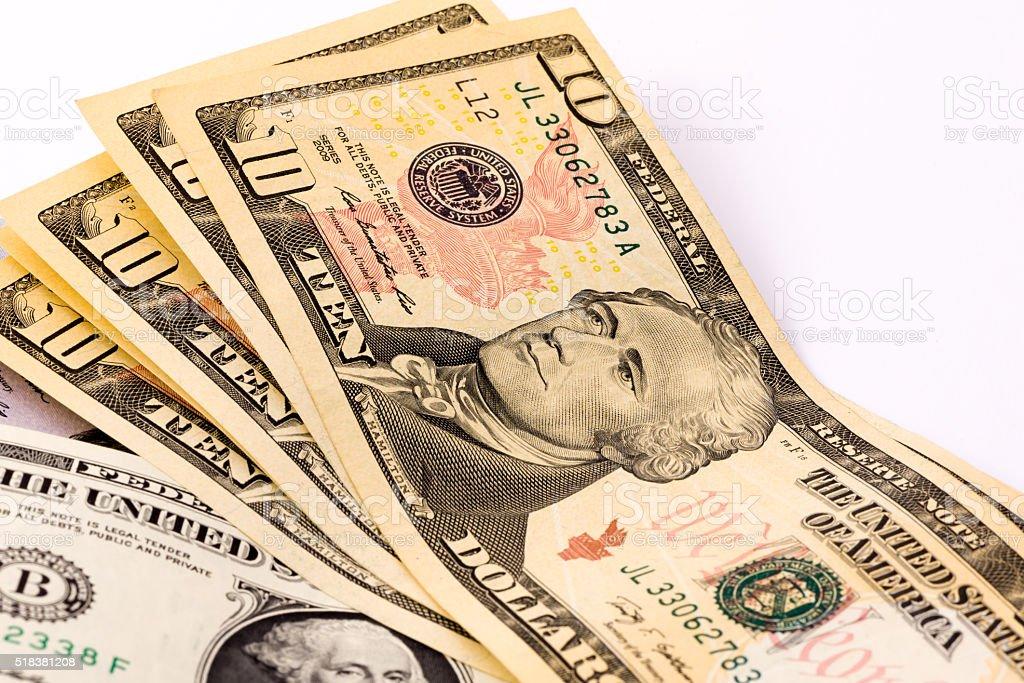 US Ten Dollars stock photo