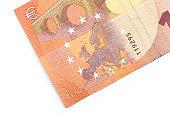 Ten Euro banknote fragment closeup!!