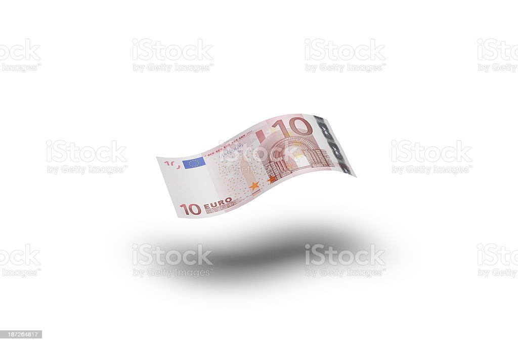 Ten Euro banknote royalty-free stock photo