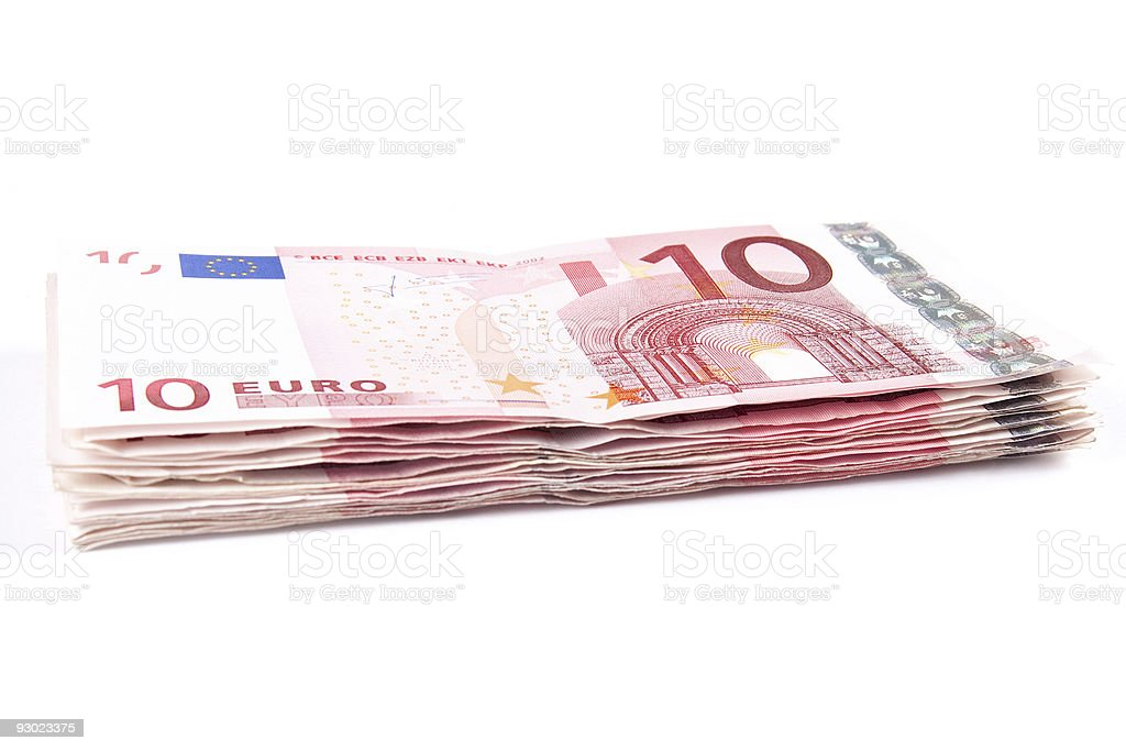 Ten euro banknotes royalty-free stock photo