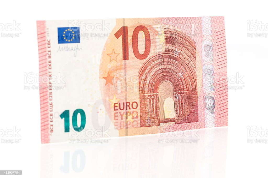Ten Euro Note - Front stock photo