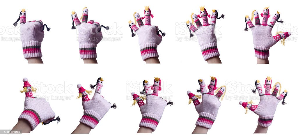 Ten Fingers royalty-free stock photo