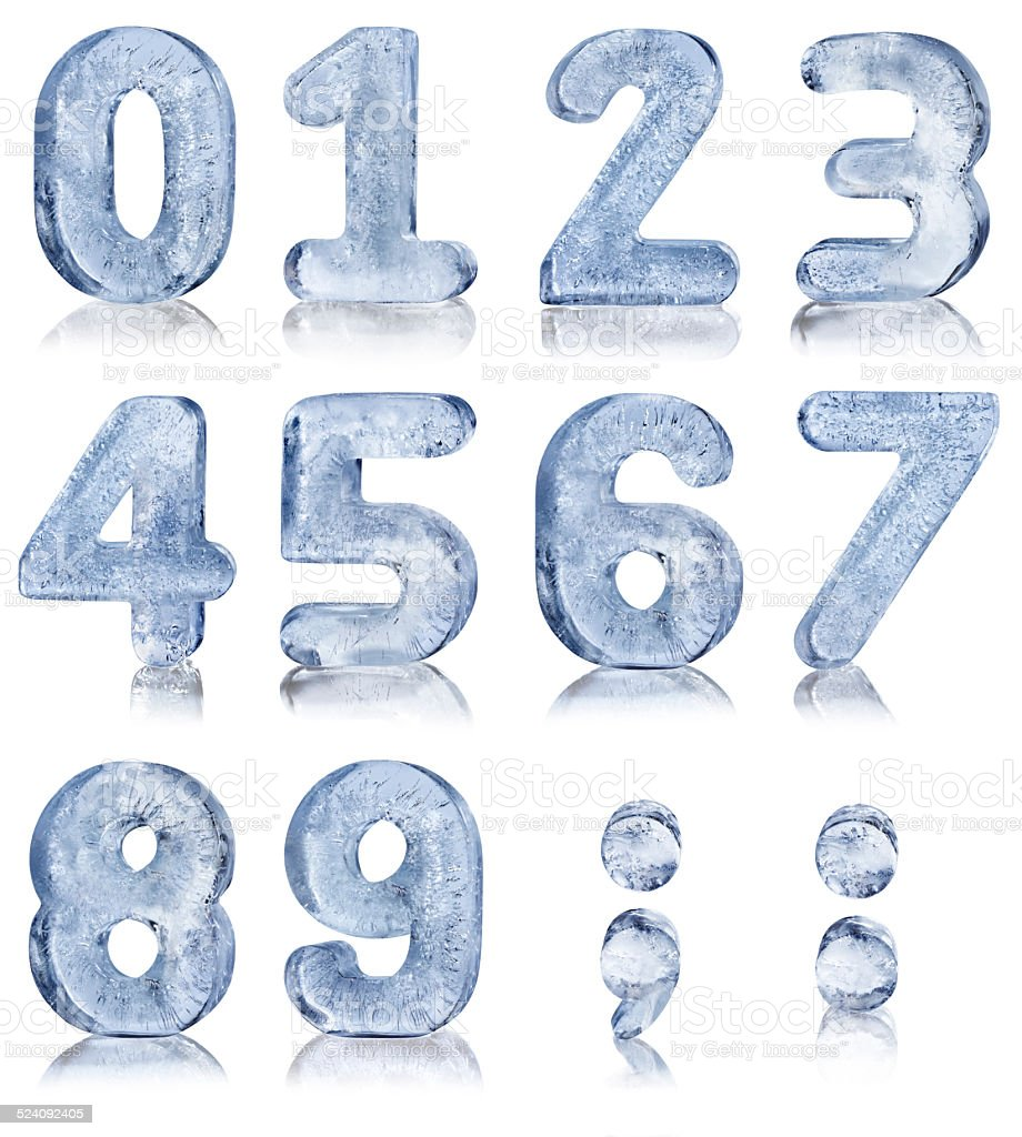 Ten Ice Numbers stock photo