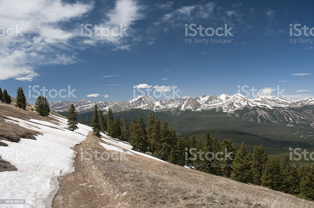 Ten Mile Range in Breckenridge, Colorado stock photo