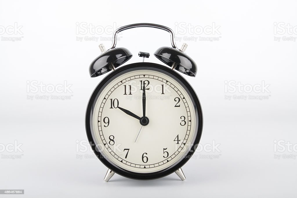 Ten o'clock. Alarm clock. stock photo
