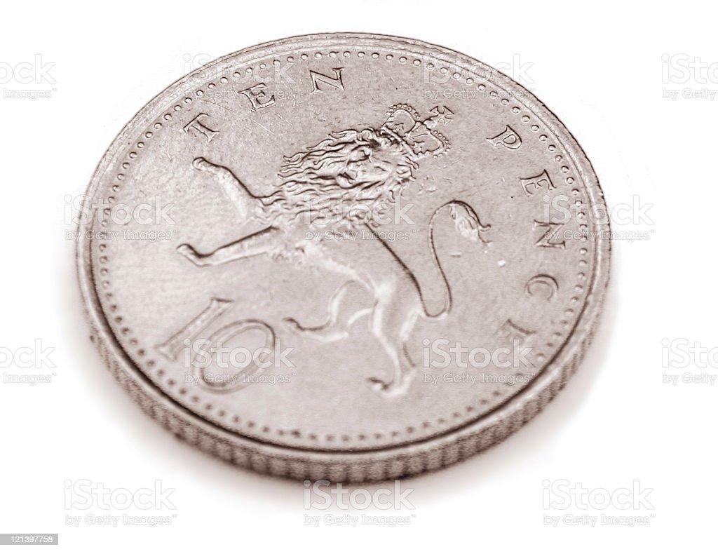 Ten Pence royalty-free stock photo
