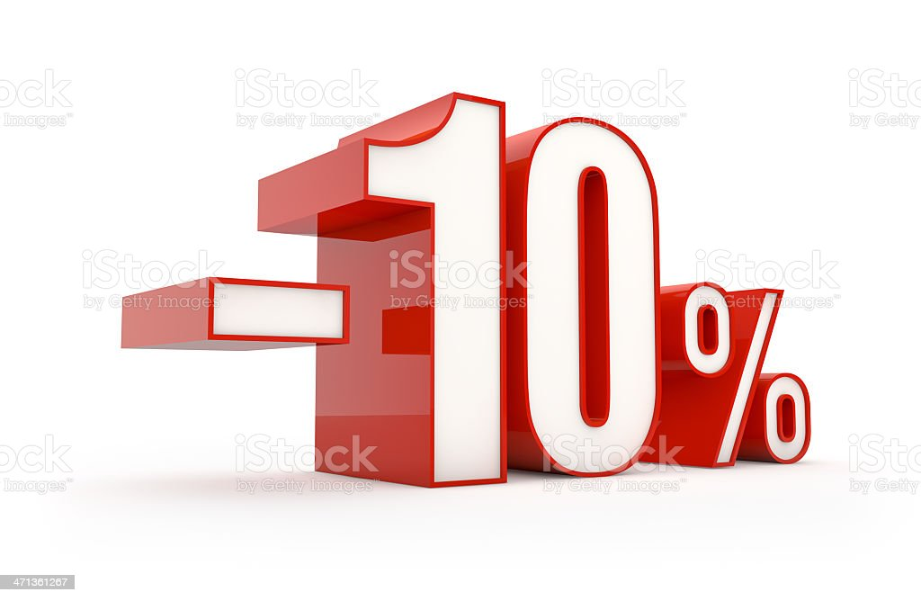 ten percent discount | sale series royalty-free stock photo