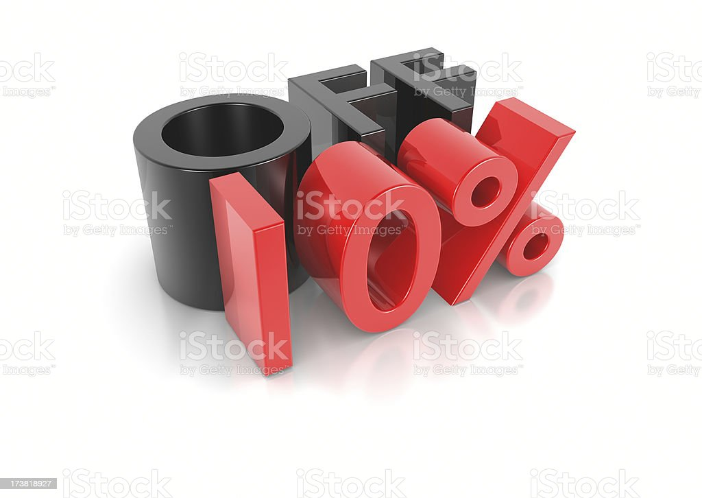 Ten Percent Off royalty-free stock photo