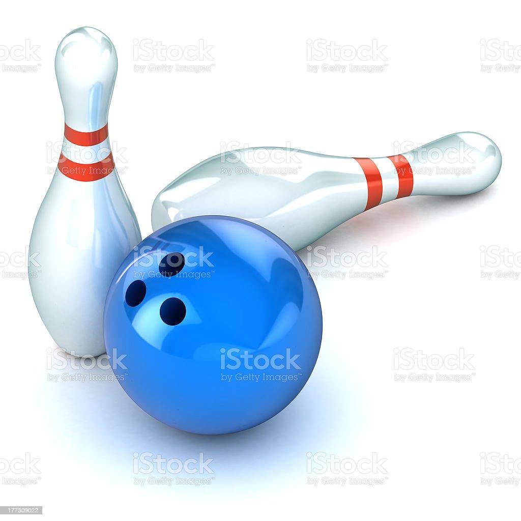 Ten Pin Bowling Illustration stock photo