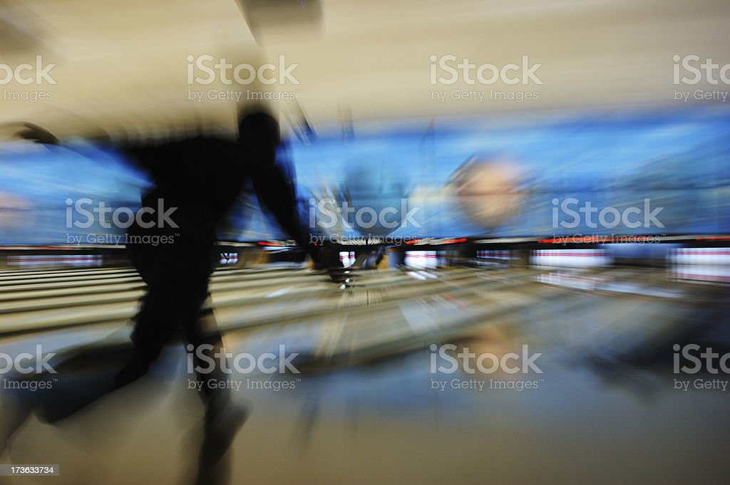 Ten Pin Bowling royalty-free stock photo