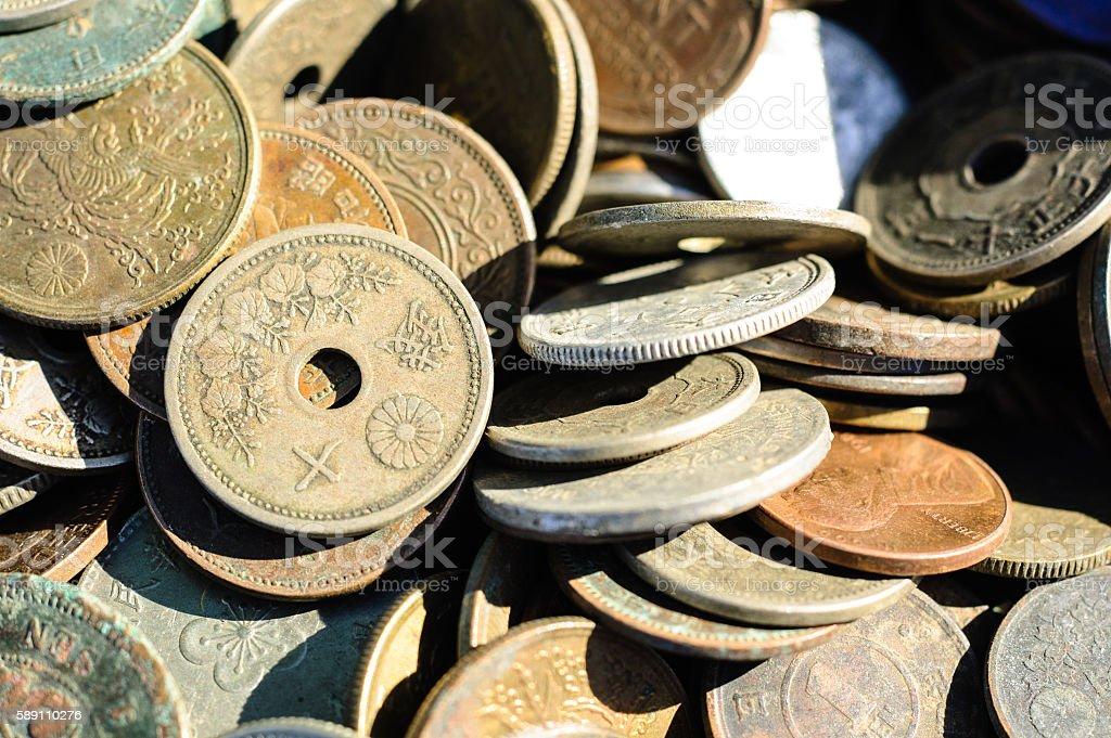 Ten sen coin stock photo