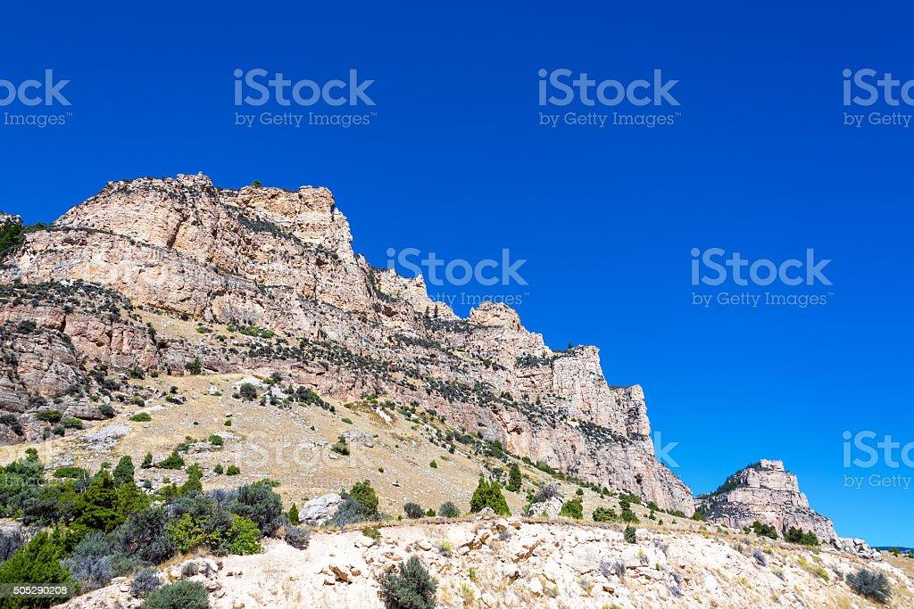 Ten Sleep Canyon in Wyoming stock photo