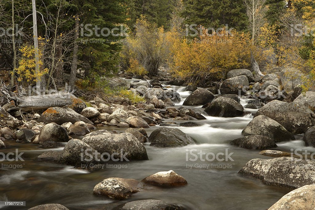 Ten Sleep Creek royalty-free stock photo