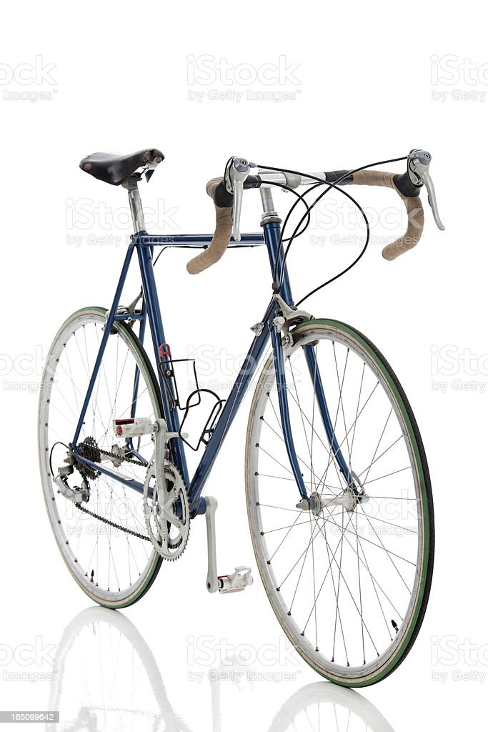 Ten Speed Bike - Forshortened View (Isolated) stock photo