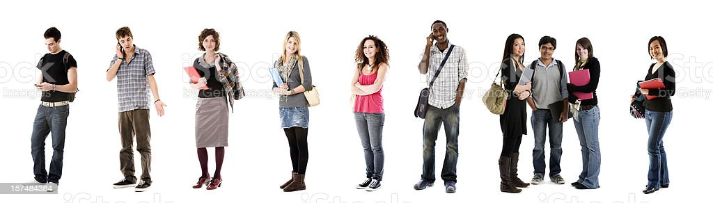 Ten students royalty-free stock photo
