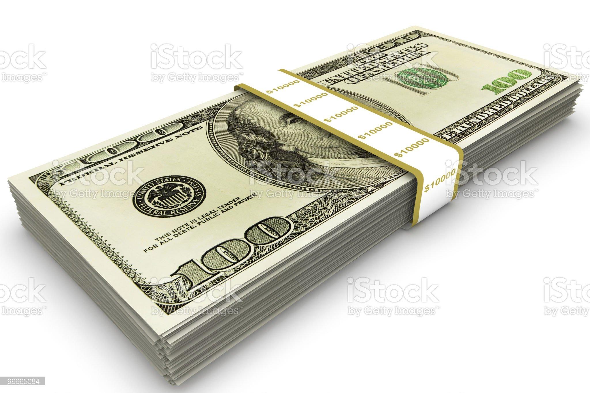 Ten Thousand Dollars royalty-free stock photo