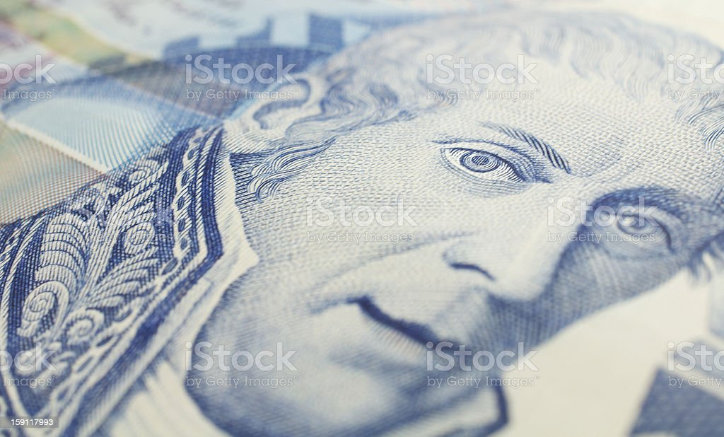 ten thousand liras banknote royalty-free stock photo