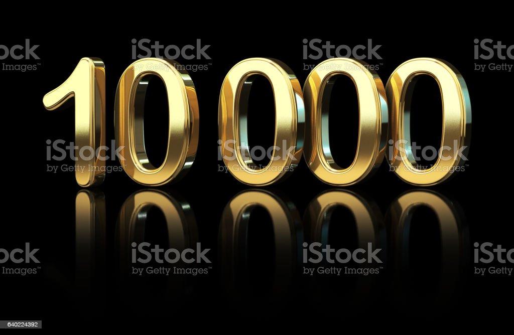 Ten Thousand stock photo