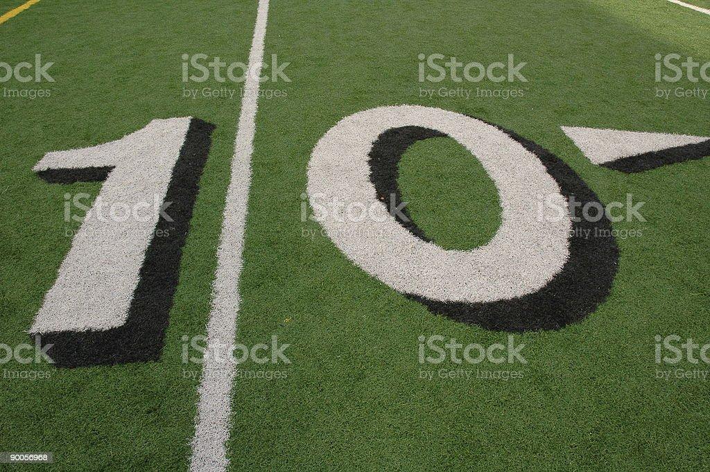 Ten Yard Line stock photo