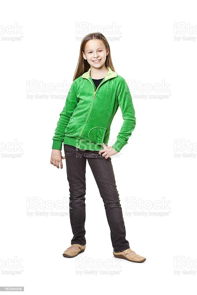 ten years old girl royalty-free stock photo