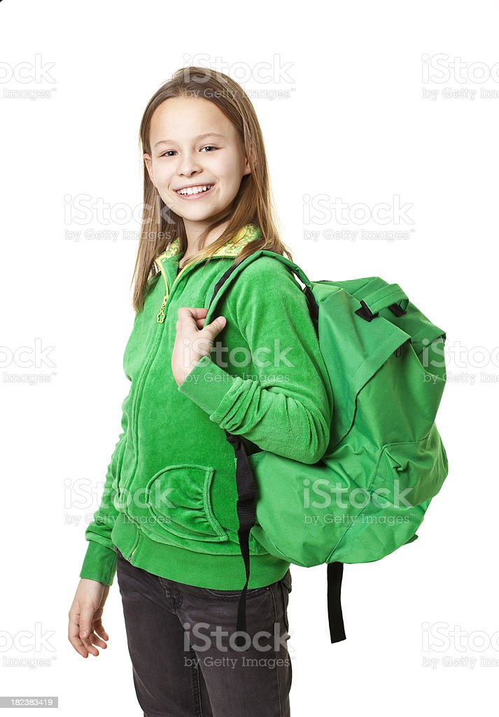 ten years old schoolgirl royalty-free stock photo