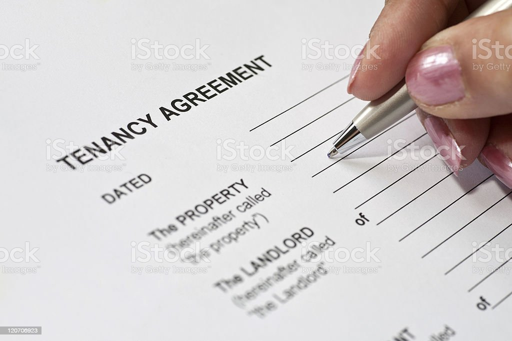 Tenancy Agreement royalty-free stock photo