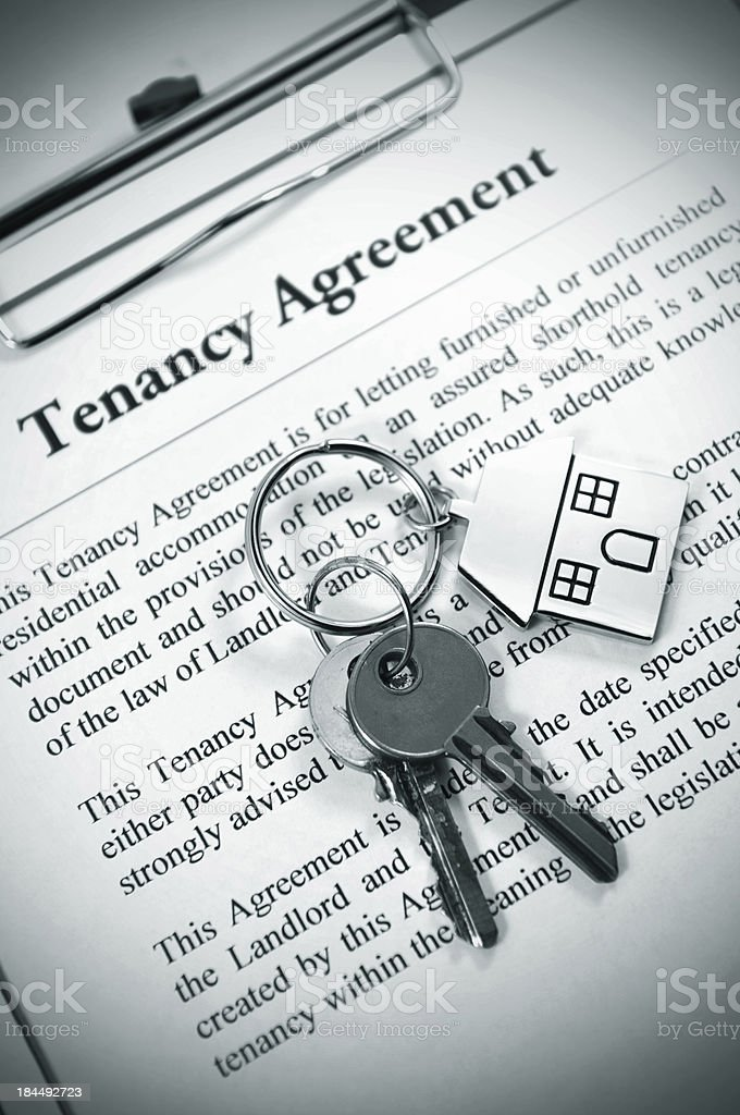 Tenancy agreement stock photo