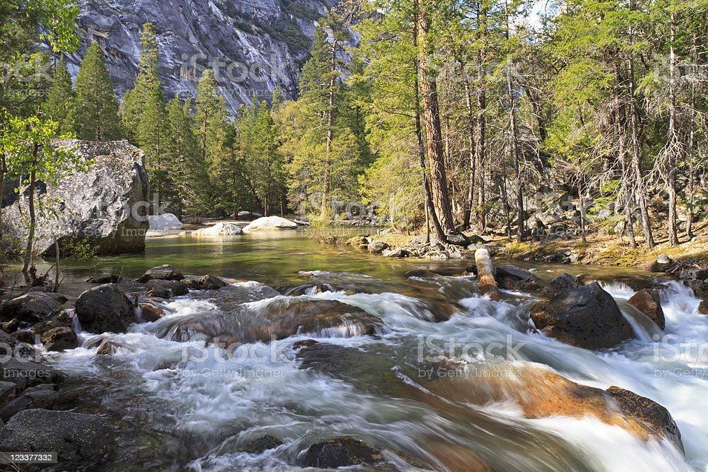 Tenaya Creek Rapids royalty-free stock photo