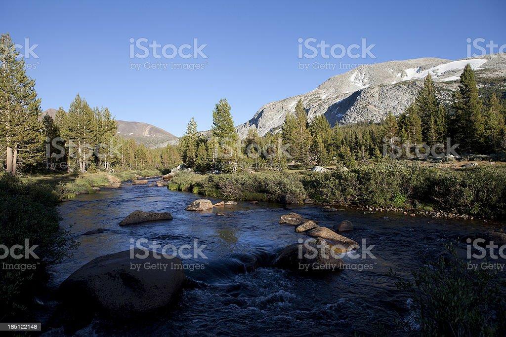 Tenaya Creek, Yosemite National Park, California stock photo