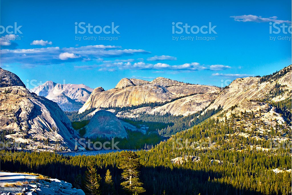 Tenaya Lake in Late Afternoon stock photo