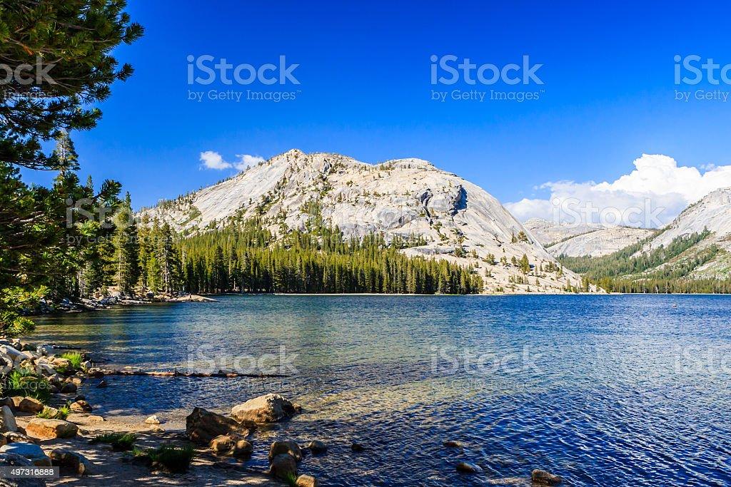 Tenaya Lake, Yosemite National Park, Sierra Nevada, USA stock photo
