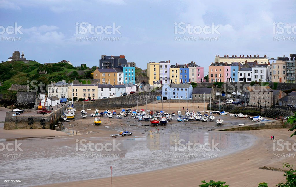 Tenby Harbour Pembrokeshire West Wales United Kingdom stock photo