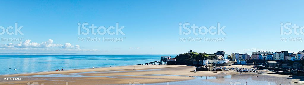 Tenby Harbour stock photo