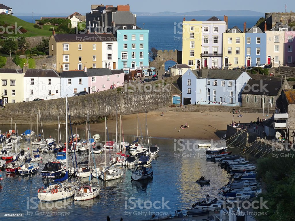 Tenby in West Wales stock photo