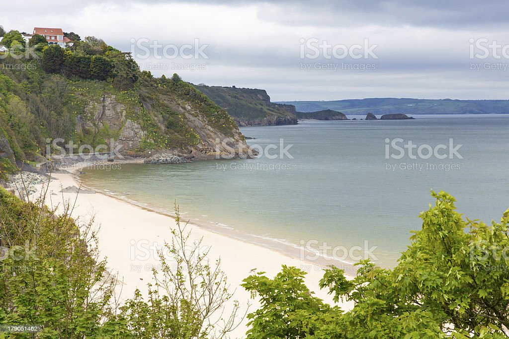 Tenby North beach Pembrokeshire Wales stock photo