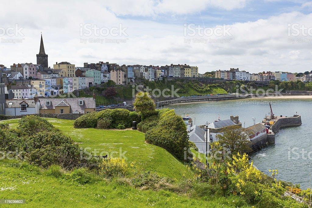 Tenby Pembrokeshire Wales historic uk town stock photo