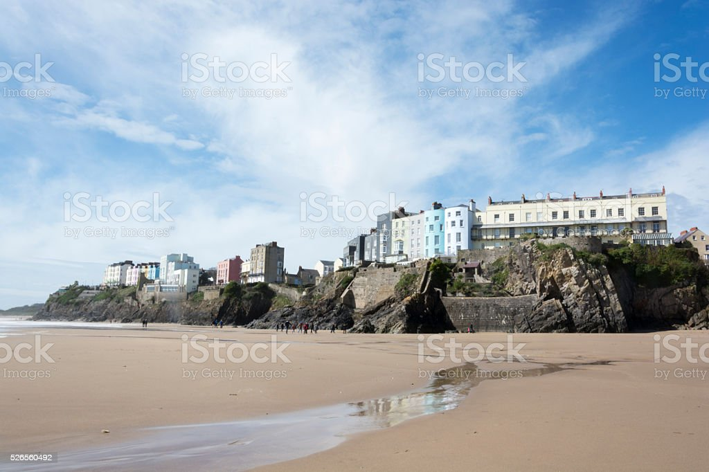 Tenby South Beach Pembrokeshire South Wales stock photo