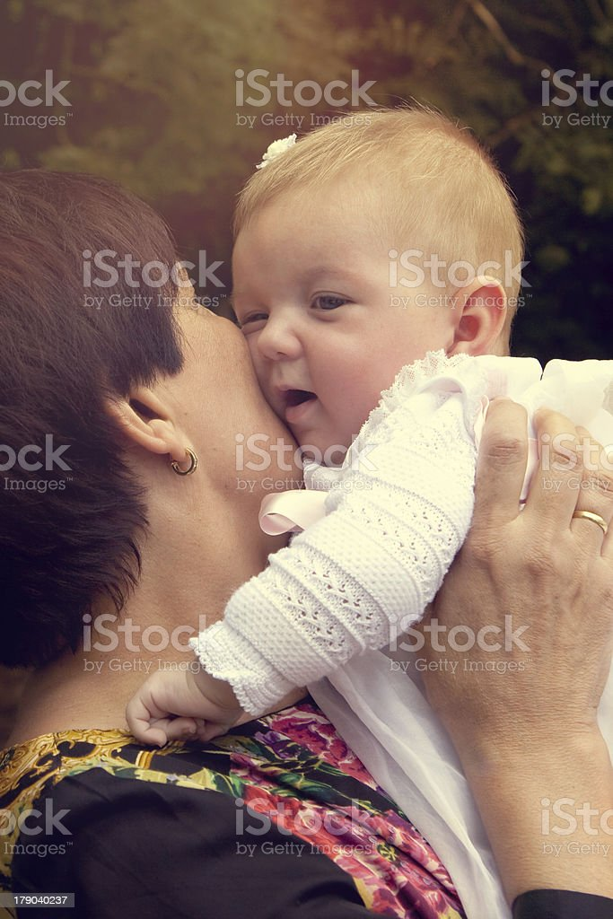 Tender grandmother with baby royalty-free stock photo