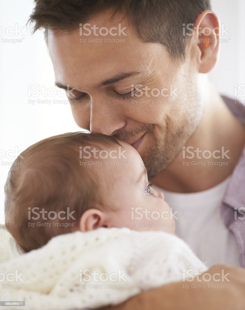 Tender kiss of love stock photo