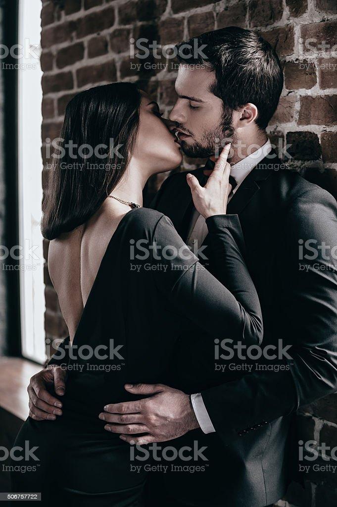 Tender kiss. stock photo