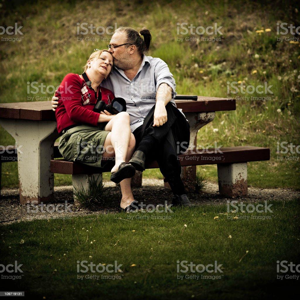 tender moment stock photo